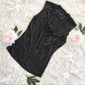 Cynthia Rowley top vegan leather